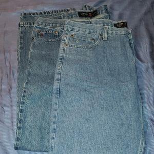 Izod mens jeans pants 2 pairs